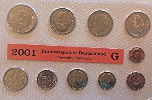 - DE 2001 2001 G Germany Deutsche Mark 10 Coins Official Se Good