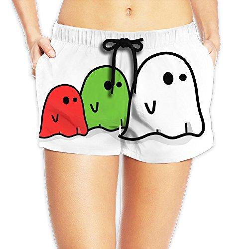 Funny Ghost Halloween 2017 Hot Woman Beach Shorts Swim Trunks (Garlands Halloween 2017)