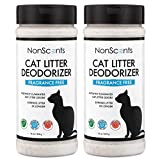 NonScents Cat Litter Deodorizer – Litter Box Odor Eliminator – Fragrance Free – Longer Kitty Litter Life – 2-Pack