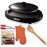 zojirushi gourmet sizzler - Zojirushi EA-BDC10 Gourmet Sizzler Electric Griddle + Cookbook, Oven Mitt, Spatula, and Flipper Tongs
