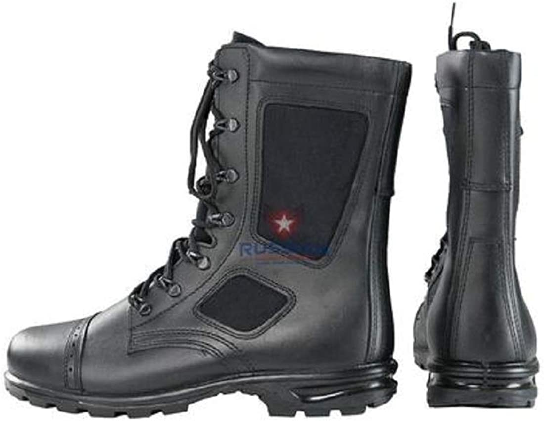 Russian Army Leather Boots Military Combat Tactical Hunting Hiking Men/'s