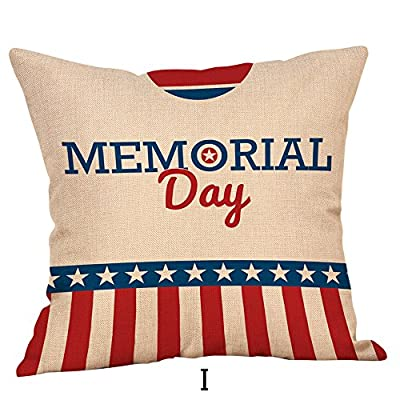 Hstore Memorial Day Pillow Covers, Patriotic American Flag July 4th Inspired Throw Pillow Covers, Sofa Cushion Cover Home Decor Pillow Sham 18x18 Inches: Home & Kitchen