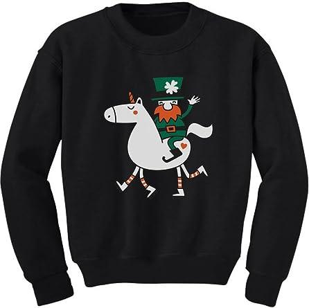 Patrick/'s Day Kids Shirt Leprechaun Riding A Unicorn Shirt for Kids Cute St