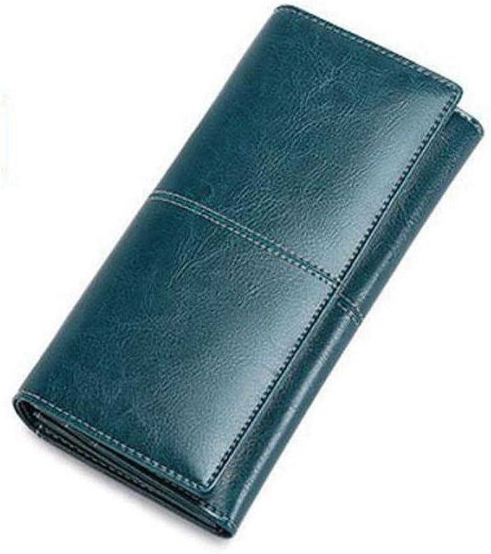 ZhiGe Womens Wallet,Ladies Wallet Large Zipper Leather Wallet Multifunctional Bulk Bag 193.510cm