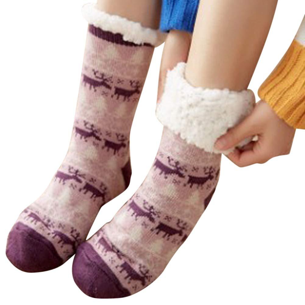 FzJs-J-in 1Pair Warm Ultra-Plush Slipper Socks Thick Anti Slip Indoor Floor Ankle Sock