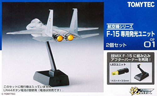1/144 Scale Stand with Afterburner LEDs for Tomy Tech F-22A Raptor Kit