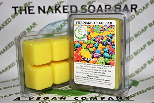 THE NAKED SOAP BAR - CARNIVAL SOY WAX CANDLE TARTS [[ VALUE TWIN PACK ]]
