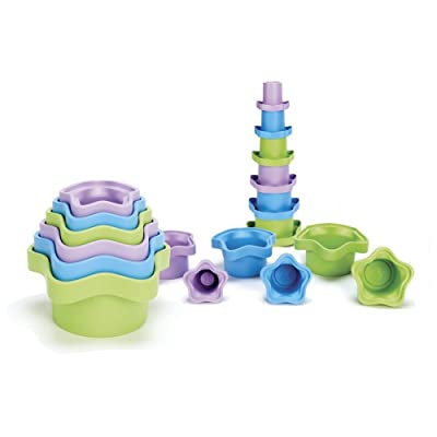 Green Toys Stacking Cups, Purple/Blue/Green: Toys & Games