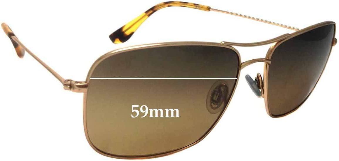 SFX Replacement Sunglass Lenses fits Maui Jim MJ246 Wiki Wiki 59mm Wide