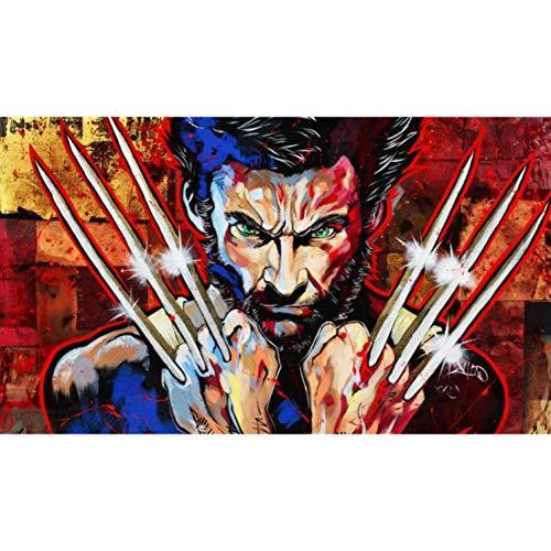 - CNIAO Full Square Drill 5D DIY Marvel Hero Wolverine Logan Diamond Painting Cross Stitch 3D Embroidery Kits-50x70cm