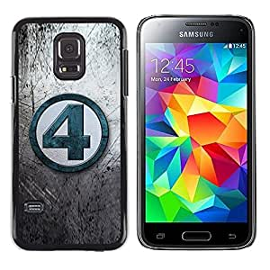 LECELL--Funda protectora / Cubierta / Piel For Samsung Galaxy S5 Mini, SM-G800, NOT S5 REGULAR! -- 4 Number Grey Tv Blue --