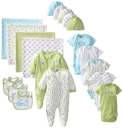 Gerber Unisex-Baby recién nacido Neutral 19 piezas Essentials Set de ...