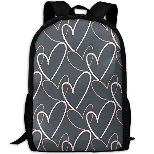 Valentines Day Backpack Briefcase Laptop Travel Hiking School Bags Stylish Daypacks Shoulder Bag