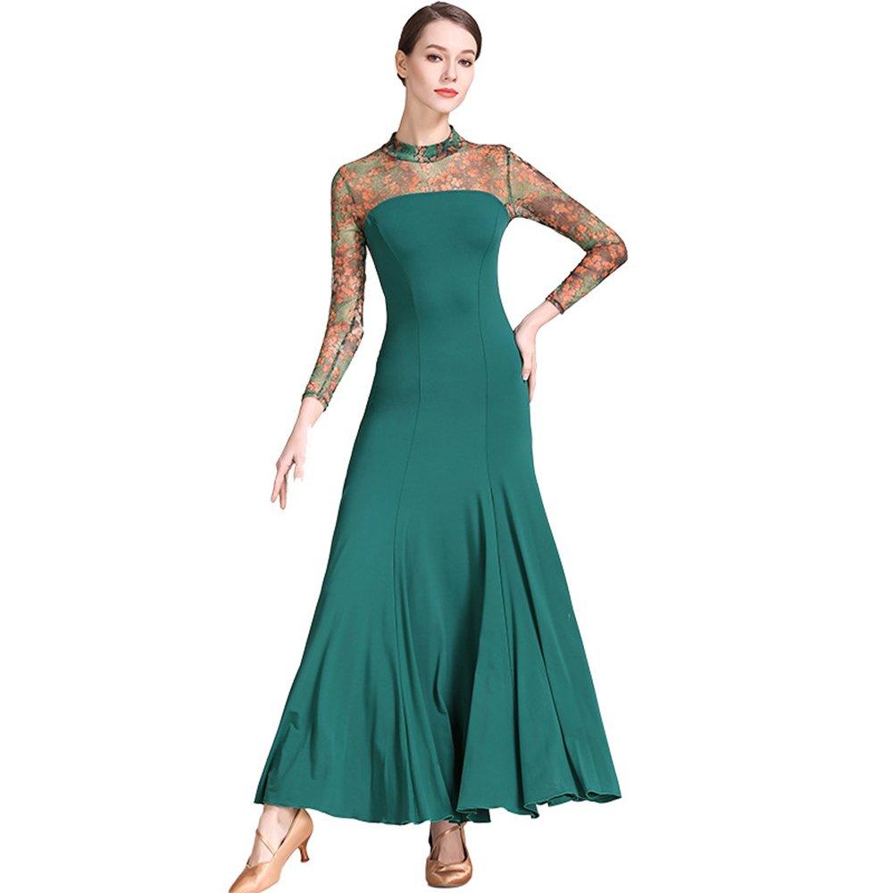 【送料無料/新品】 モダンな女性の大きな振り子の社交ダンスドレスモダンなダンスドレスタンゴとワルツダンスドレスダンスコンペティションスカートドレス長袖ネットヤーンダンスコスチューム Medium|Green B07HHNSWZR Green Medium|Green Medium Green Medium, 大野原町:ee86e5e5 --- a0267596.xsph.ru