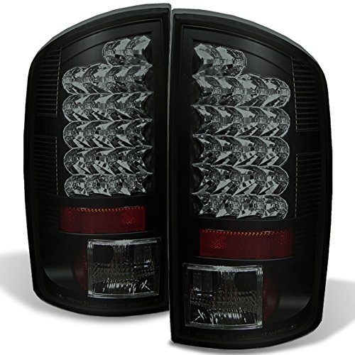 For 07-08 Ram 1500 07-09 Ram 2500 3500 Pickup Black Smoke LED Tail Lights Brake Lamps Replacement