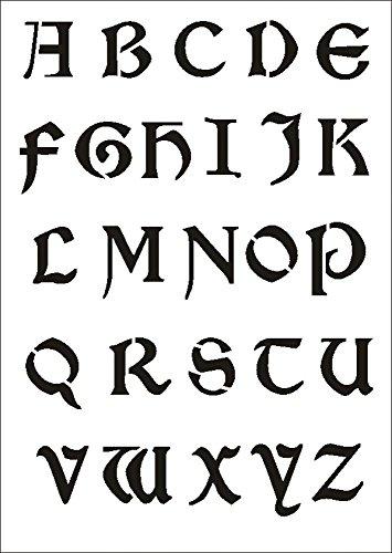 UMR-Design W-644 Font Celtic Textil- / wallstencil Size A5