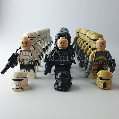 24pcs/lot Minifigure Star Wars Troopers Building Blocks Toy Kids Gifts (Cardboard Captain America Shield)