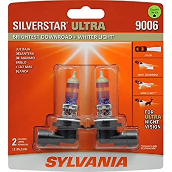 SYLVANIA - 9006 SilverStar Ultra - High Performance Halogen Headlight Bulb, High Beam, Low Beam and Fog Replacement Bulb, Brightest Downroad with Whiter ...