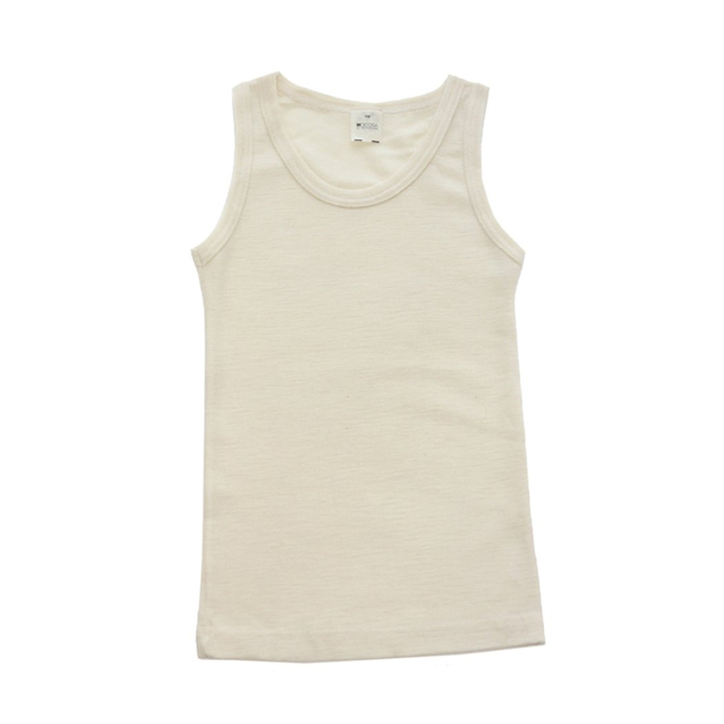 Hocosa of Switzerland Big Girls Organic Wool-Silk Sleeveless Undershirt