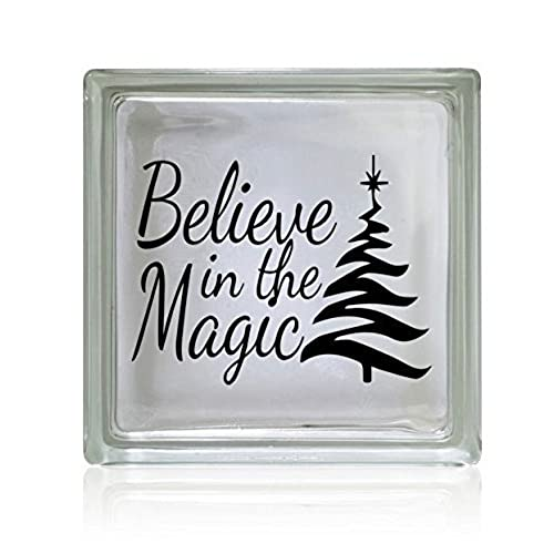 believe in the magic christmas vinyl decal sticker 5h x 5w - Christmas Decals For Glass
