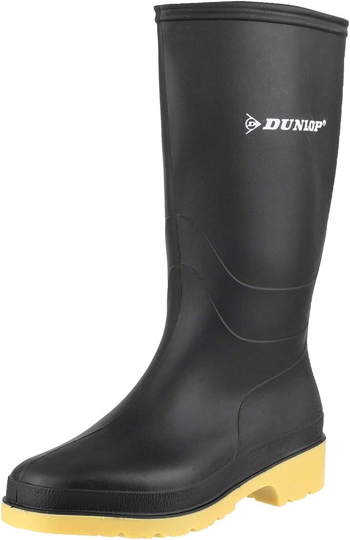 Plain Black Rain Boots