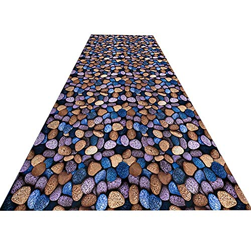 Price comparison product image Hotel Corridor Long Carpet Stone Pattern Non-Slip Anti-Fading Durable Hall Entrance Clubhouse Living Room Bedroom Outdoor Customizable in Various Sizes (Size : 0.86m / 31.49236.22in)