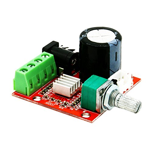 Efficient Cracker-Sized Loud Speaker Amplifier Stereo Amp Audio Amplify Board 10W+10W 2-Channel Class-D Amplifiers Module with Potentiometer for Radios, Electric Guitar, Headphones, Home System