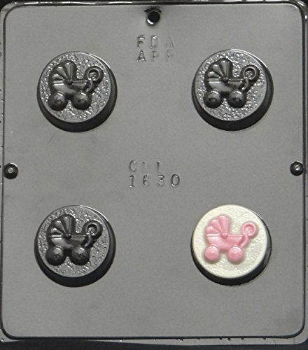 Baby Carriage Baby Shower Oreo Cookie Sandwich Chocolate Candy Mold 1630