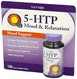 Natrol 5-HTP Mood Enhancer, 100mg, 150 Tablets