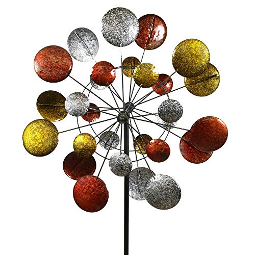 Kinetic Wind Sculpture - Jumbo Modern Art Kinetic Quadruple Wind Sculpture Spinner