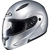 HJC Metallic Mens CL-MAX II Bluetooth Street Bike Motorcycle Helmets - CR Silver /