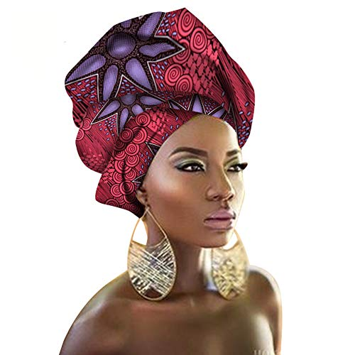 African Traditional Wax Print Head wrap Headwrap Scarf Tie, Multi-Color Urban Ladies Hair Accessory Headband Head Scarf - Ladies Tie Scarf