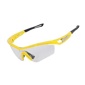 Deportes al aire libre gafas de sol polarizadas rápido transformar color gafas transparentes anti-UV