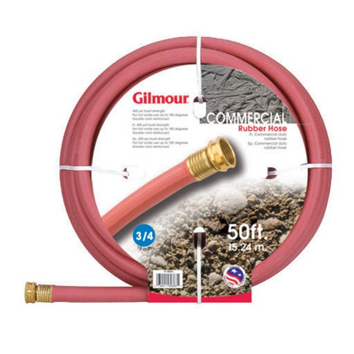 UPC 034411112304, Gilmour 18 Series Reinforced Rubber Hose 3/4 Inch by 50 Feet Red 18034050