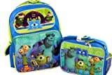Disney Monsters University Large Backpack and Lunch Bag Lunchbox 2pc Set