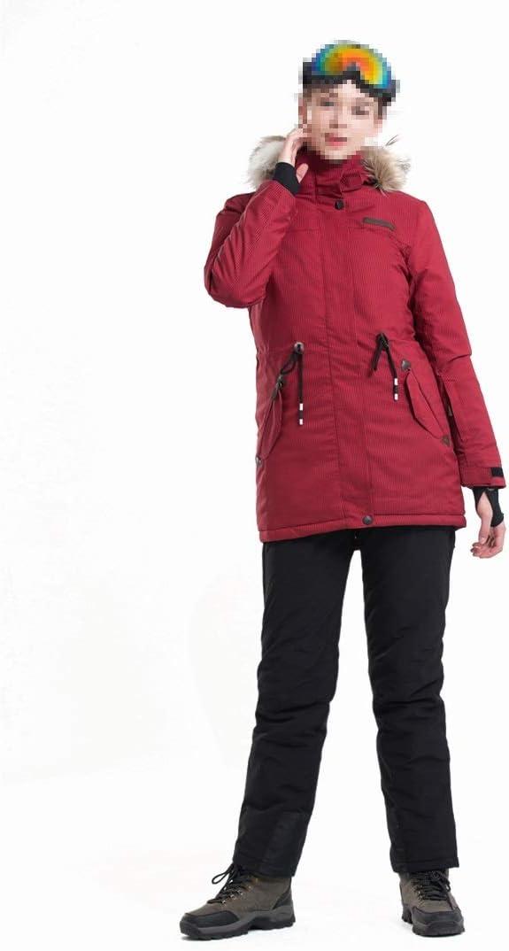 Sceliny 女性の山の防水スキージャケット防風の雨ジャッキー雪の屋外ハイキング (色 : レッド, サイズ : XL) レッド X-Large