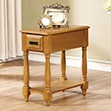 ACME Furniture 80510 Qrabard Side Table, Light Oak