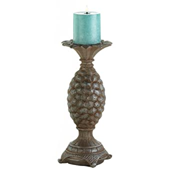 Amazoncom Tall Pillar Candle Holders Standing Polyresin Antique
