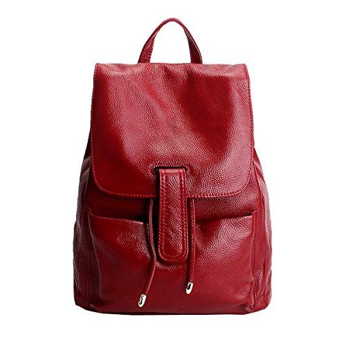 Sac portés Rouge main cuir Girl LF en 33038 femme Sac E dos fashion à OUAvBXXP