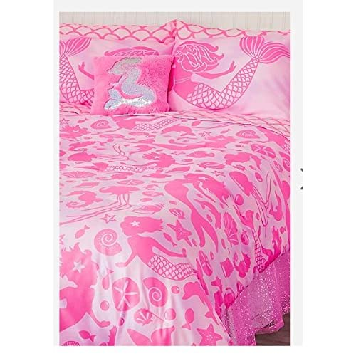 Justice Mermaid Bed in a bag : Queen/Full size Pink hot sale