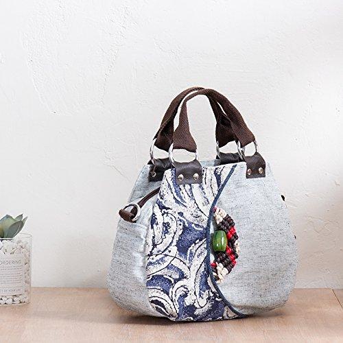 Primavera Bolso Yunnan diseño y para 1496 de Yamaha Girl algodón Mujer BISSER Verano Bandolera de Style 1605 FRqSS7