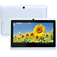 Tiptiper Q88H 7 Inch Android 4.10 Tablet PC A33 Quad Core WiFi 3G Built-in Loud Speaker G-Sensor Dual Camera White