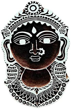 IFH Angel Carved Wooden Printing Block Stamp Indian Print Textile Fabric Border