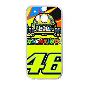 HTC One M8 Cell Phone Case White Valentino Rossi YR101923