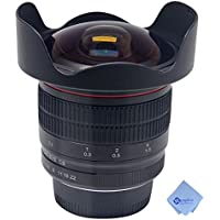 Meike MK-8mm f/3.5 Wide Angle Fisheye Lens for Nikon F-mount DSLR Camera+Mcoplus Cleaning Cloth