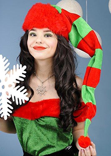 Natale adulto Extra lungo cappello di elfo a righe  Amazon.it ... 33956164605b