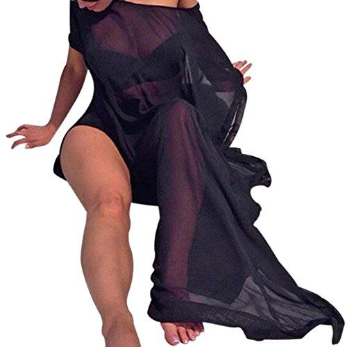 Price comparison product image Hot Sale!Clearance!Todaies Women Sexy Bikini Cover Up Swimsuit Swimwear Beach Shirt Dress Bathing Suit 4 Colors (2XL, Black)