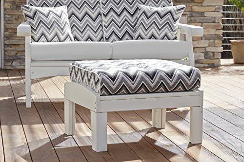Uwharrie Chair Co G021-46-Flamingo-Dist-Pine Gallatin Leg Rest, (Uwharrie Outdoor Ottoman)