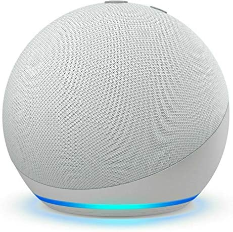 Amazon Echo Dot (4th Gen) Smart Speaker with Alexa 2020 -Glacier White
