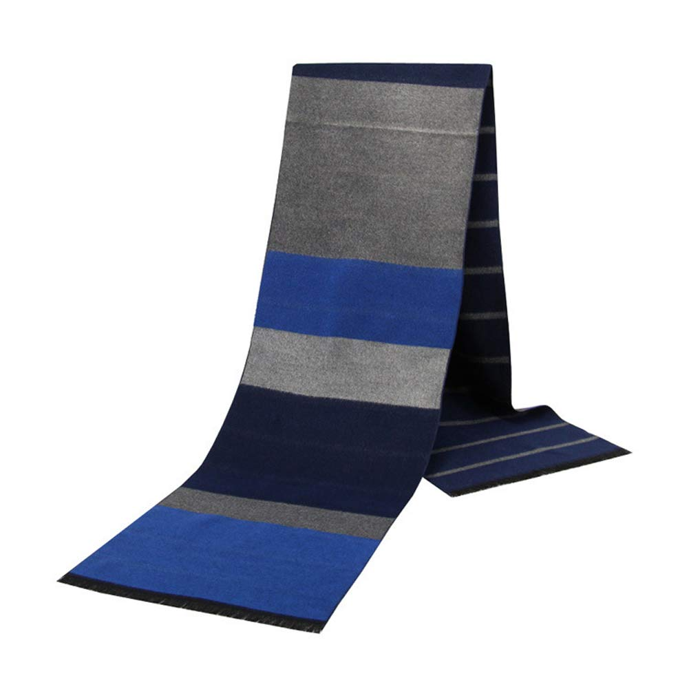 Lalago Mens Soft Cashmere Feel Scarf For Autumn And Winter,Simple And Elegant Long Thick Plush Scarf (One Size, Casual-023)